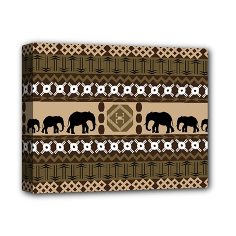 Elephant African Vector Pattern Deluxe Canvas 14  X 11