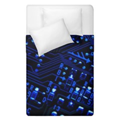 Blue Circuit Technology Image Duvet Cover Double Side (single Size) by BangZart