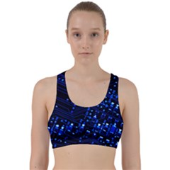 Blue Circuit Technology Image Back Weave Sports Bra