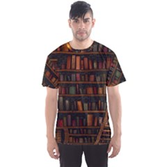 Books Library Men s Sports Mesh Tee