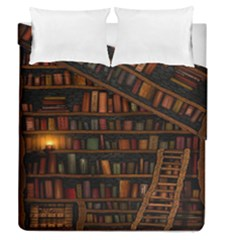 Books Library Duvet Cover Double Side (queen Size)