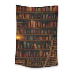 Books Library Small Tapestry