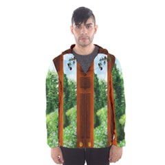 Beautiful World Entry Door Fantasy Hooded Wind Breaker (men) by BangZart