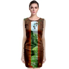 Beautiful World Entry Door Fantasy Sleeveless Velvet Midi Dress by BangZart
