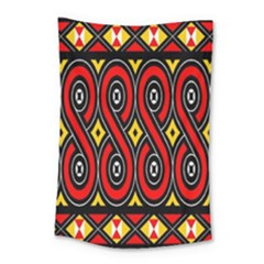 Toraja Traditional Art Pattern Small Tapestry by BangZart