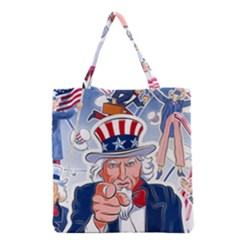 Independence Day United States Of America Grocery Tote Bag by BangZart