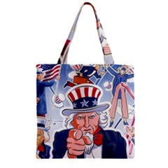 Independence Day United States Of America Zipper Grocery Tote Bag