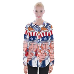 Independence Day United States Of America Womens Long Sleeve Shirt