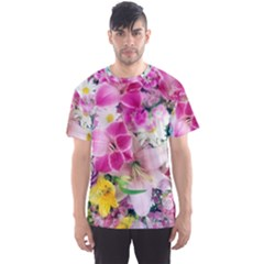 Colorful Flowers Patterns Men s Sports Mesh Tee by BangZart