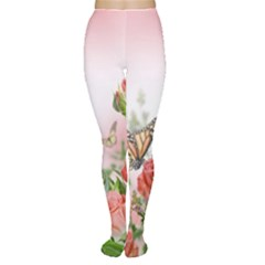 Flora Butterfly Roses Women s Tights