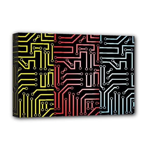 Circuit Board Seamless Patterns Set Deluxe Canvas 18  X 12