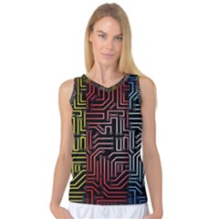 Circuit Board Seamless Patterns Set Women s Basketball Tank Top