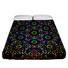The Flower Of Life Fitted Sheet (queen Size)