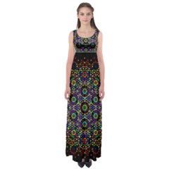 The Flower Of Life Empire Waist Maxi Dress