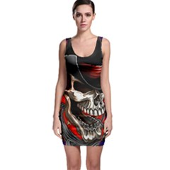 Confederate Flag Usa America United States Csa Civil War Rebel Dixie Military Poster Skull Bodycon Dress