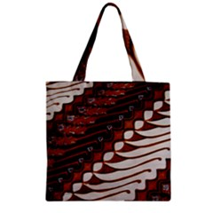 Traditional Batik Sarong Zipper Grocery Tote Bag