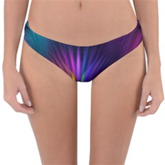 Colored Rays Symmetry Feather Art Reversible Hipster Bikini Bottoms