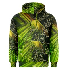 Electronics Machine Technology Circuit Electronic Computer Technics Detail Psychedelic Abstract Patt Men s Pullover Hoodie