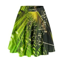 Electronics Machine Technology Circuit Electronic Computer Technics Detail Psychedelic Abstract Patt High Waist Skirt by BangZart
