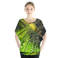 Electronics Machine Technology Circuit Electronic Computer Technics Detail Psychedelic Abstract Patt Blouse by BangZart