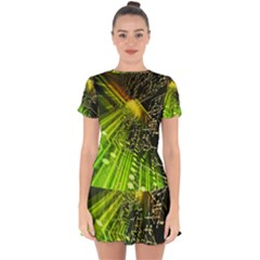 Electronics Machine Technology Circuit Electronic Computer Technics Detail Psychedelic Abstract Patt Drop Hem Mini Chiffon Dress