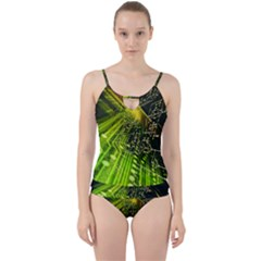 Electronics Machine Technology Circuit Electronic Computer Technics Detail Psychedelic Abstract Patt Cut Out Top Tankini Set
