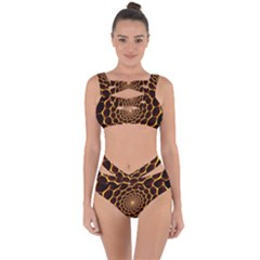 Honeycomb Art Bandaged Up Bikini Set