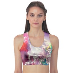 Clouds Multicolor Fantasy Art Skies Sports Bra