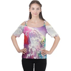 Clouds Multicolor Fantasy Art Skies Cutout Shoulder Tee