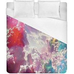 Clouds Multicolor Fantasy Art Skies Duvet Cover (california King Size)