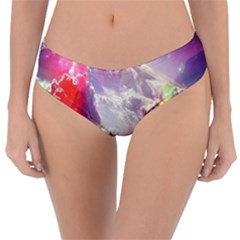 Clouds Multicolor Fantasy Art Skies Reversible Classic Bikini Bottoms by BangZart