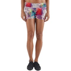 Clouds Multicolor Fantasy Art Skies Yoga Shorts
