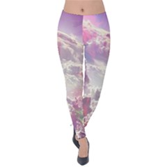 Clouds Multicolor Fantasy Art Skies Velvet Leggings