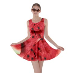Fresh Watermelon Slices Texture Skater Dress by BangZart
