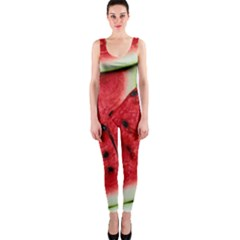 Fresh Watermelon Slices Texture Onepiece Catsuit by BangZart