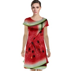 Fresh Watermelon Slices Texture Cap Sleeve Nightdress