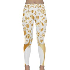 Abstract Book Floral Food Icons Classic Yoga Leggings