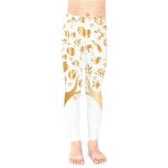 Abstract Book Floral Food Icons Kids  Legging