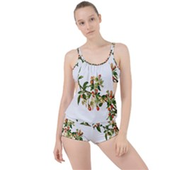 Apple Branch Deciduous Fruit Boyleg Tankini Set