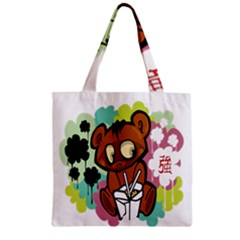Bear Cute Baby Cartoon Chinese Zipper Grocery Tote Bag
