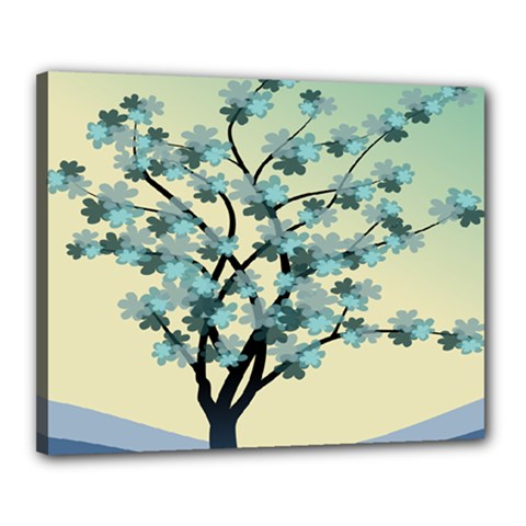 Branches Field Flora Forest Fruits Canvas 20  X 16  by Nexatart