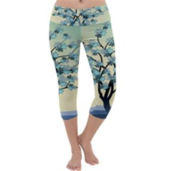 Branches Field Flora Forest Fruits Capri Yoga Leggings