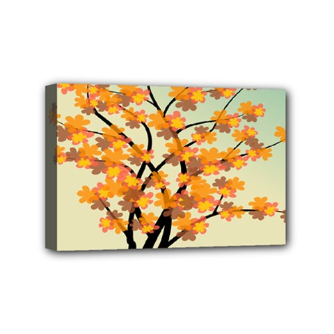 Branches Field Flora Forest Fruits Mini Canvas 6  X 4
