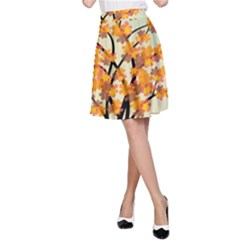 Branches Field Flora Forest Fruits A Line Skirt