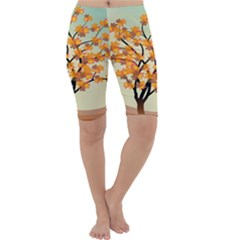 Branches Field Flora Forest Fruits Cropped Leggings