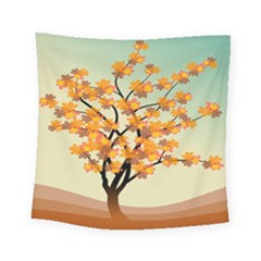 Branches Field Flora Forest Fruits Square Tapestry (small) by Nexatart