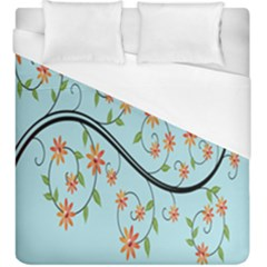 Branch Floral Flourish Flower Duvet Cover (king Size) by Nexatart