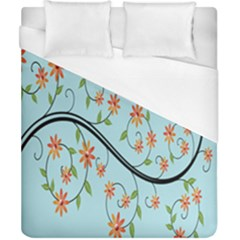Branch Floral Flourish Flower Duvet Cover (california King Size) by Nexatart
