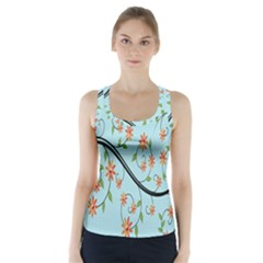 Branch Floral Flourish Flower Racer Back Sports Top