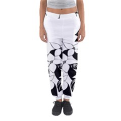 Ecological Floral Flowers Leaf Women s Jogger Sweatpants
